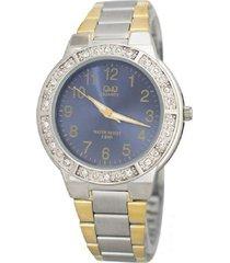 reloj q&q q901j405y análogo bicolor para mujer