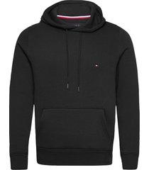basic flag hoody hoodie trui zwart tommy hilfiger