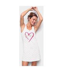 camisola cor com amor regata estampada feminina