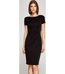 sukienka z krótkim rękawem czarna