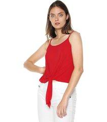 blusa rojo active
