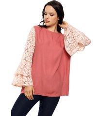 blusa rosa vindaloo oxford