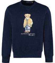 ralph lauren printed crew-neck sweatshirt