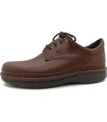 zapato de cuero marrón febo super confort