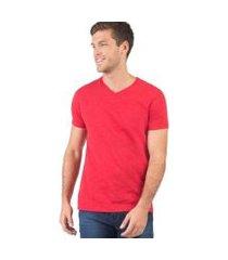 t-shirt básica taco premium flamê verm masculina