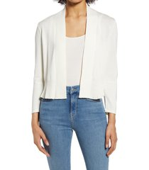 women's nic+zoe first day cardigan, size large - ivory