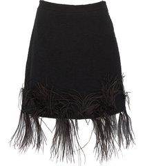 'iconic' feather embellished mini skirt