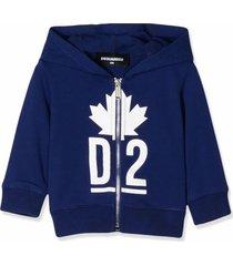 dsquared2 blue cotton hoodie
