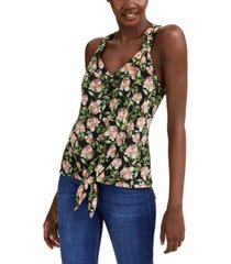 inc v-neck tie-front tank top, created for macy's