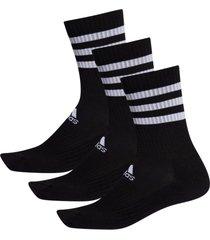 strumpor 3-stripes cushioned crew socks 3-pack