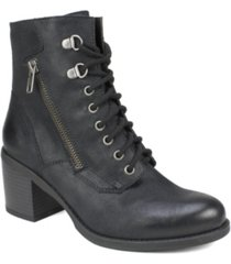 white mountain dorian lace-up booties women's shoes