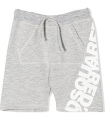 dsquared2 grey track shorts