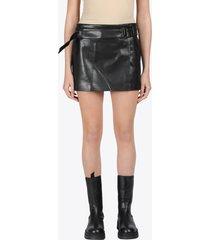 vegan leather 90s skirt