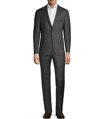 regular-fit plaid wool suit