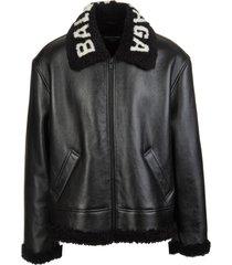 balenciaga man black cocoon aviator jacket