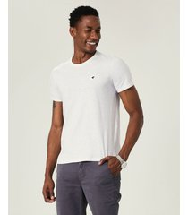 camiseta slim botonê malwee branco - pp