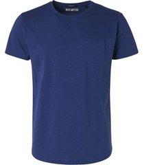 no excess t-shirt s/sl, r-neck, garm dyed slu indigo blue