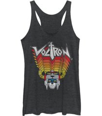 fifth sun voltron head tracer gradient colors tri-blend racer back tank