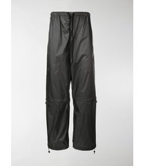 marcelo burlon county of milan multilogo drawstring trousers
