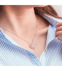 collana con ciondolo carino collana con ciondolo in argento placcato in oro placcato argento per le donne