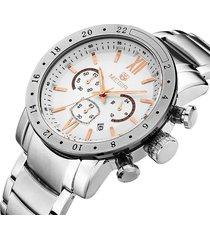 reloj megir 3008 cronógrafo plata