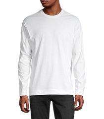 y-3 men's long-sleeve stretch-cotton t-shirt - off white - size xs
