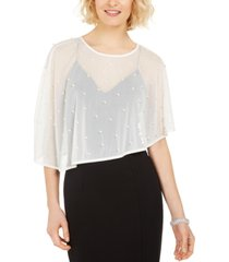 msk imitation-pearl embellished cape