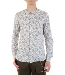 overhemd lange mouw bicolore 3805-luna