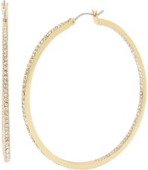 jessica simpson pave hoop earrings, 2.5""