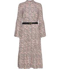 leafy medl midi dress maxiklänning festklänning rosa michael kors