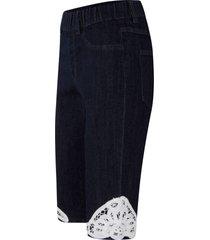 bermuda in jeans con pizzo (blu) - bpc selection