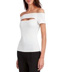 bcbgmaxazria off-the-shoulder cutout top