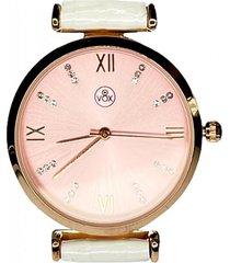 reloj análogo blanco vox