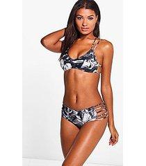 antiqua marble print triangle bikini top