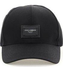 dolce & gabbana baseball cap with logo plaque