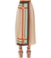 fendi foulard logo karligraphy skirt