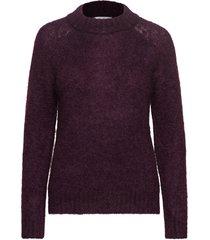 monty sweater stg gebreide trui paars iben