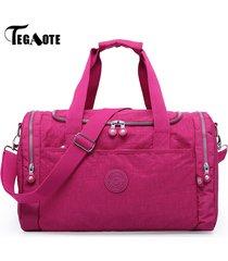 tegaote-women-travel-bag-large-capacity-duffle-luggage-bags-casual-tote-nylon-wa