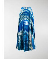 christopher kane sky print pleated skirt