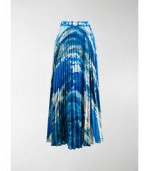 christopher kane sky print pleated skirt