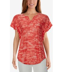 ruby rd. misses knit chic camo top
