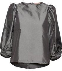 srmiley 7/8 top blus långärmad grå soft rebels