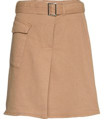 mathilde skirt kort kjol beige just female
