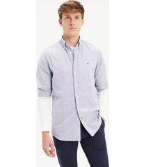 tommy hilfiger men's regular fit oxford shirt vintage indigo - xxl