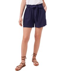 riley & rae solid paper-bag waist seersucker shorts, created for macy's