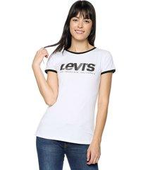 camiseta blanco-negro levis