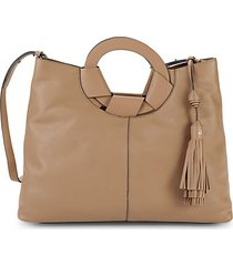 josy leather tote