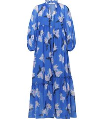 energetic mix dress in blue blurry flora