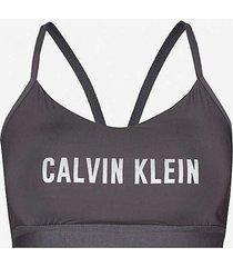 calvin klein support bralette - zwart/zilver
