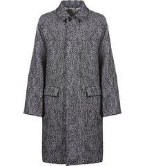 jil sander concealed long coat